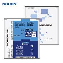 Originales NOHON Batería No NFC Para Samsung GALAXY S4 SIV I9500 I9508 I9505 I9507V B600BE Batería 2600 mAh Baterías de Repuesto