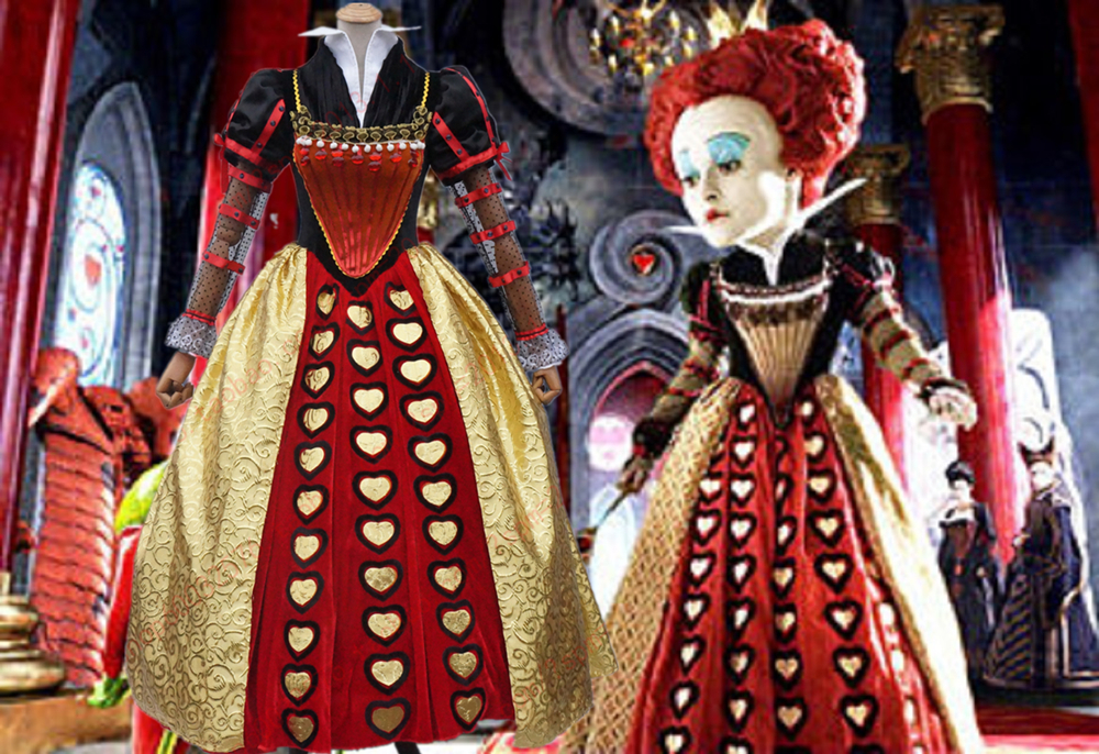 alice im wunderland die rote k nigin kost m kleid hohe qualit t cosplay kost m in alice im. Black Bedroom Furniture Sets. Home Design Ideas