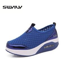 Дышащие 5 см Подушки Спортивная обувь для Для женщин colid Цвет Slip-On сезон: весна–лето потери Вес Тонизирующая обувь Eur35-42 плюс Размеры