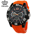SMAEL Men Outdoor Sports Waterproof Watch Male Casual LED Digital Electronics Quartz Multiple Time Zone Men's Clock Gift Watches