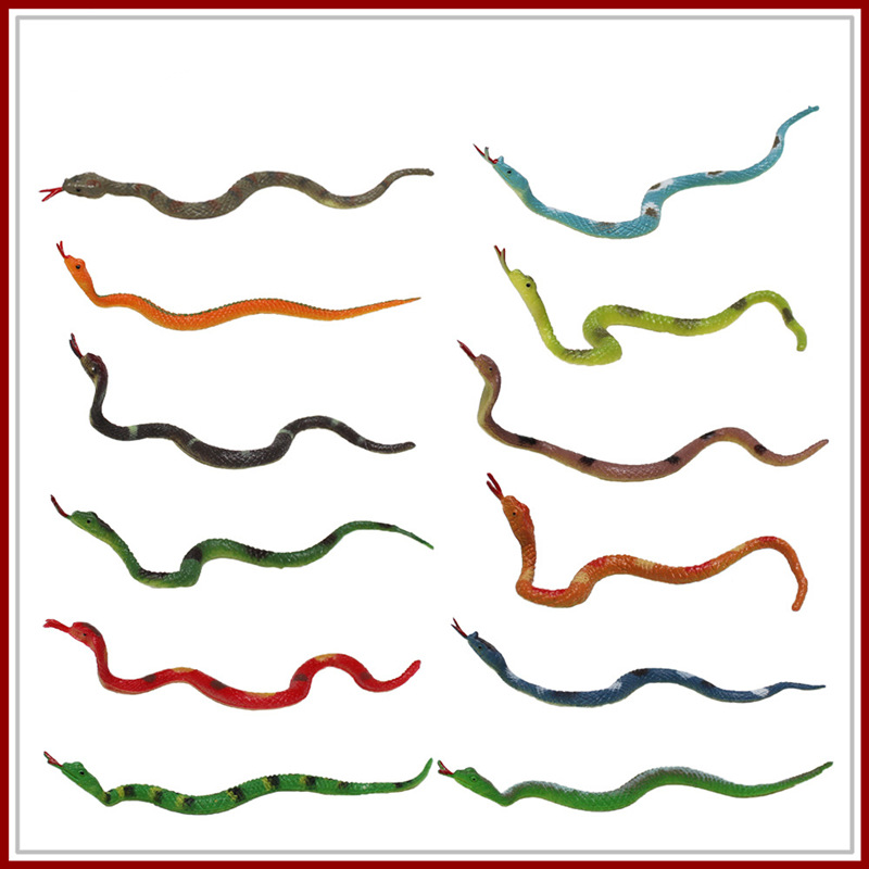 Models Viper Figurines-Toys Amazing Snakes Animals Plastic Simulation-Snake Gifts 9CM