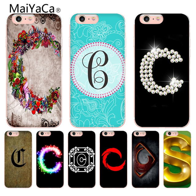 maiyaca the letter c painted cover style design cell phone case formaiyaca the letter c painted cover style design cell phone case for apple iphone 8 7 6 6s plus x 5 5s se 5c cellphones