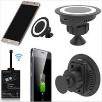 Evrensel qi kablosuz şarj şarj adaptörü pad cradle telefon için dönebilen araç montaj tutucu iphone samsung s6/s7/note5 lg