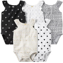 kimocat Summer infant printed love geometric graphics