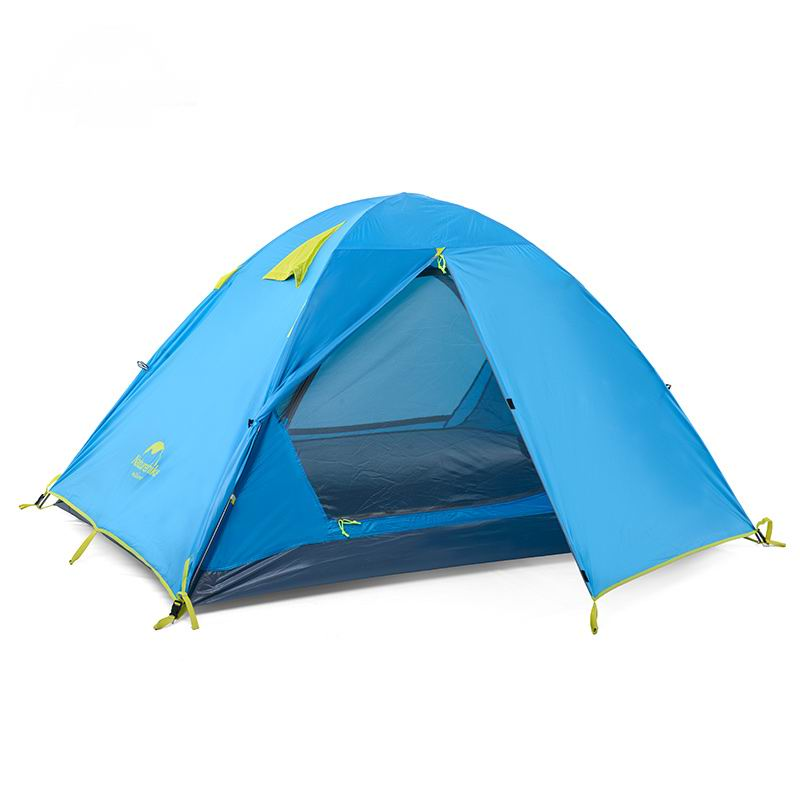 Professional 2 Person Double Layer Family Tent Aluminum Rod Anti-UV Double Door 3 People Tents Rain For Camping Trekking Beach new outdoor 3 4person big space anti uv pyramid beach tents waterproof family camping tent