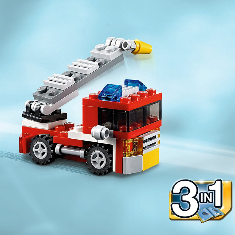 DECOOL 3102 City Creator 3 in 1 Mini Fire Rescue Building Blocks Sets Bricks Kids Model Kids Toys Marvel Compatible Legoe lepin city creator 3 in 1 beachside vacation building blocks bricks kids model toys for children compatible with lego gift kid