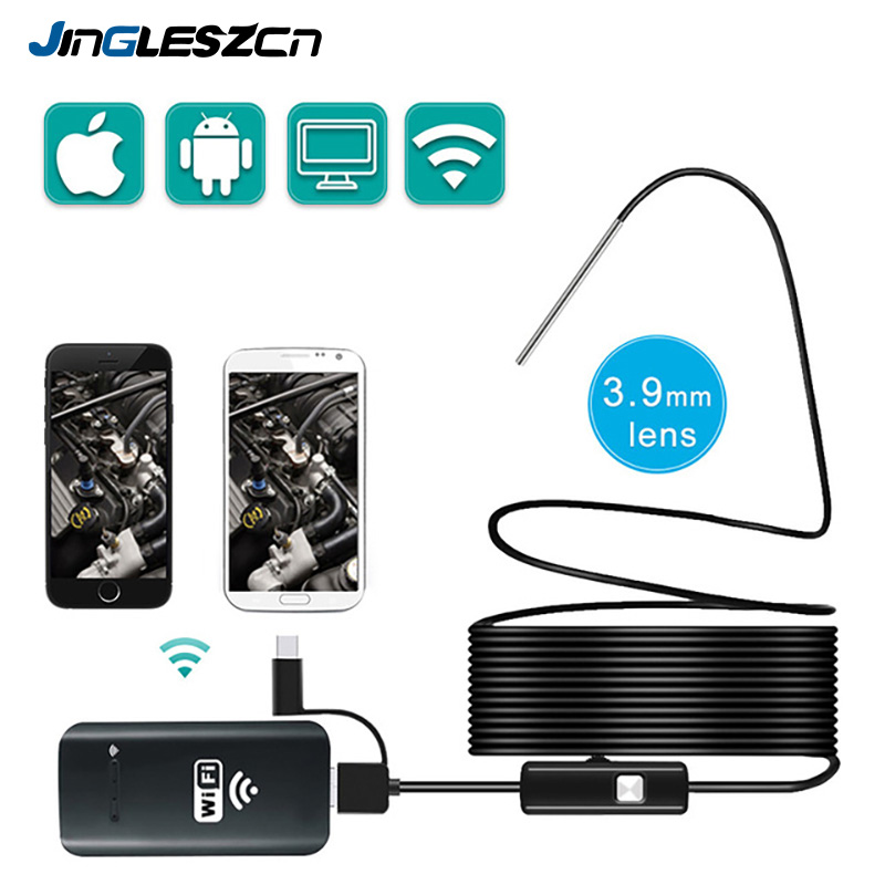 3.9MM Wifi Borescope Endoscope Camera  IP67 Waterproof Mini Snake Camera With 2000amh for Android and iOS, iPhone Tablet Samsung3.9MM Wifi Borescope Endoscope Camera  IP67 Waterproof Mini Snake Camera With 2000amh for Android and iOS, iPhone Tablet Samsung