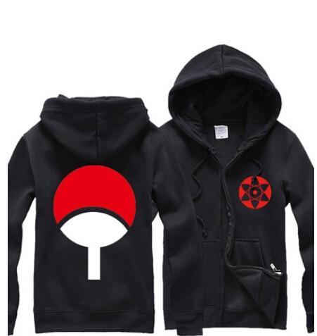 Naruto One Piece Hoodie New Anime Uchiha Sasuke Cosplay Coat Uzumaki Naruto  Jacket Zipper Sweatshirts Hoodies Men d6901d1a0