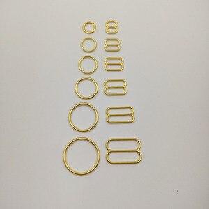 Image 1 - Darmowa wysyłka 200 sztuk/partia pozłacane biustonosz pasek suwaki niklu i żelaza darmo