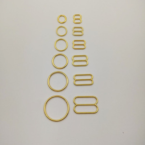 Image 1 - Free shipping 200 pcs / lot gold plated bra strap sliders nickel and ferrous free