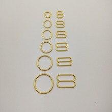 Ücretsiz kargo 200 adet/grup altın kaplama sutyen askısı kaydırıcılar nikel ve demir içermeyen
