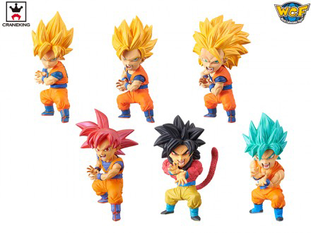Banpresto World Collectable Figure WCF Vol.10 Collection Figure - Set of 6 Pcs Super Saiyan Son Goku from Dragon Ball SUPER dragon ball super original banpresto dxf the super warriors vol 4 collection figure super saiyan god super saiyan son goku