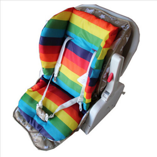 thick rainbow baby infant stroller car seat pushchair cushion cotton cover mat in strollers. Black Bedroom Furniture Sets. Home Design Ideas