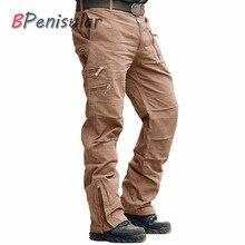 Pantaloni tattici 101 Airborne Casual Pantaloni Kaki Paintball Più Il Formato Del Cotone Tasche Esercito Militare Camouflage Cargo Pant Per Gli Uomini