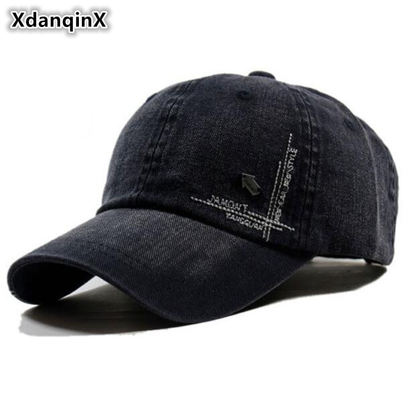 XdanqinX Adult Mens Spring Summer 100% Cotton Baseball Caps Adjustable Size Sports Golf Hats Comfortable Breathable Tongue Cap