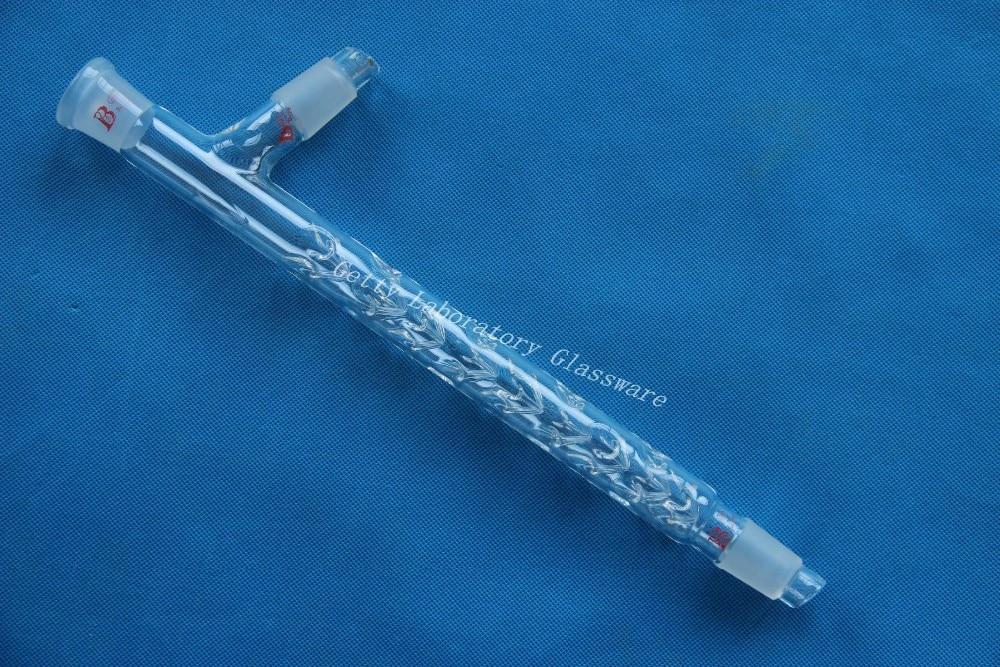 3-way Vigreux distillation head, Distilling head 300mm,24/29 joint. reflux distilling adapter distillation adapter 24 29 joints