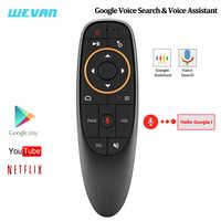 G10 Google Stimme Fernbedienung 2,4g Wireless Air Maus Mikrofon Gyroskop IR Lernen für Android TV Box HK1 H96 max X96 Mini