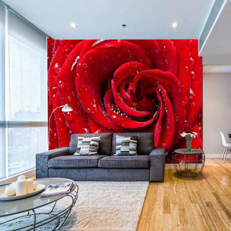 كبير مخصص جدارية ثلاثية الأبعاد الورود ستيريو خلفية زهرة غرفة نوم غرفة المعيشة التلفزيون خلفية ديكور المنزل غرفة الزواج غير خلفية قماش
