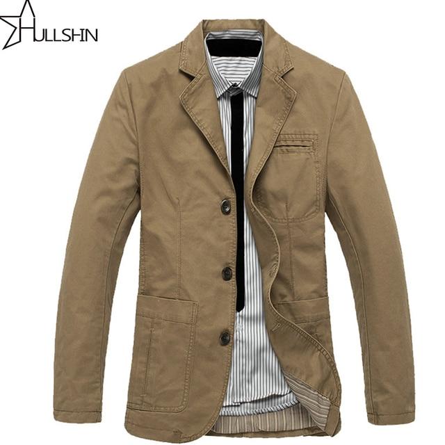 0e604c8674f AFS JEEP Fashion New blazer men Casual Blazer Cotton Parka Men s slim fit  Jackets Army Green