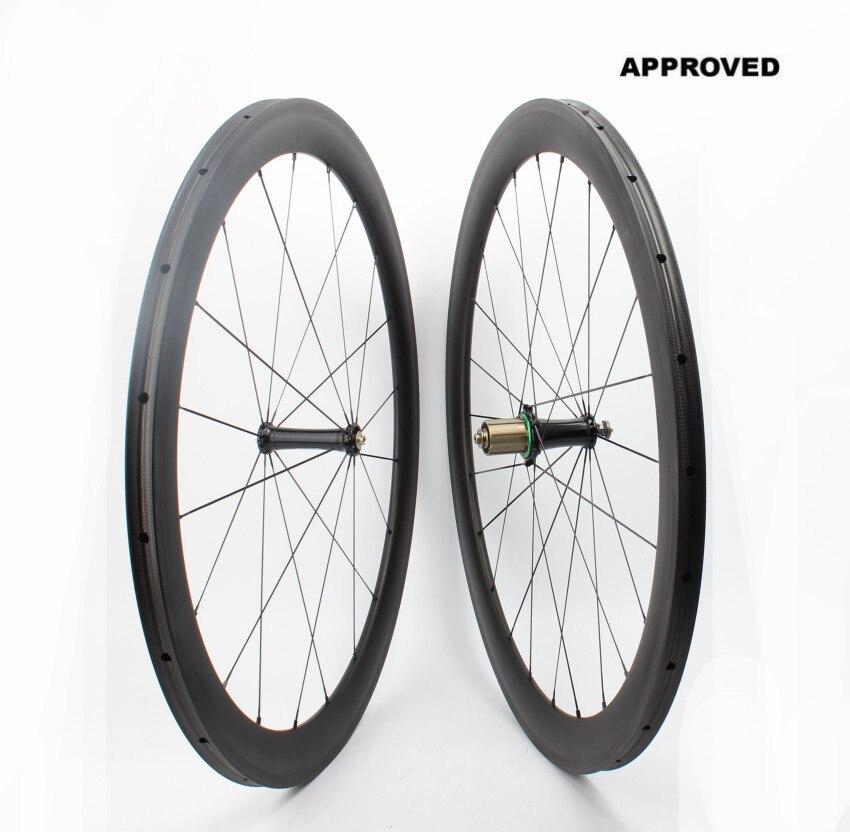 Farsports FSC50-TM-23 moyeu Extralite 50 roue de vélo de course super légère profonde, roues tubulaires en fibre de carbone de vélo 700c 50mm