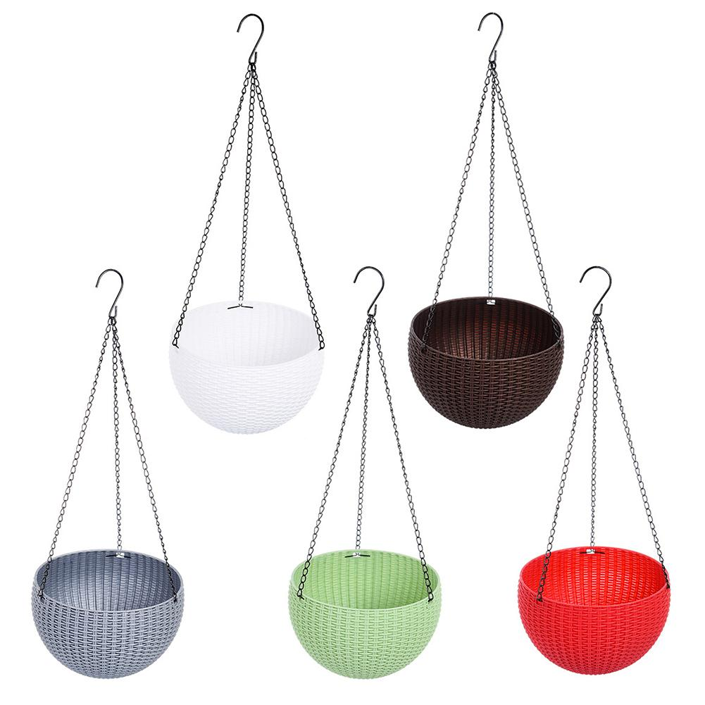 Image 2 - Rattan Waven Baskets Innovative Succulents Pots Hanging Pots Flower Balcony Garden Plant Basket Flower Plant Decoration-in Flower Pots & Planters from Home & Garden