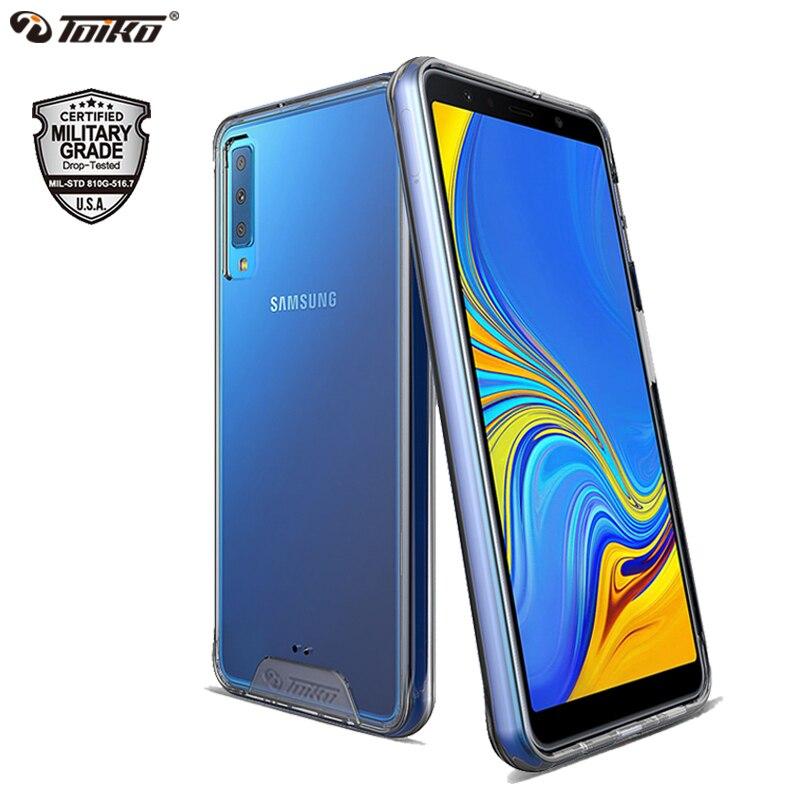 TOIKO Chiron étuis pour samsung Galaxy A7 A9 2018 coque accessoire de téléphone antichoc TPU PC couverture arrière hybride A750 A920