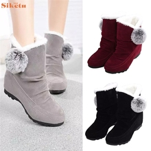 High quality Women Fashion Ankle Boots Flats Casual Shoes Warm Suede Shoes Comfortable