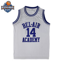0e6fc562a Will Smith Basketball Jersey  14 Bel Air Academy Team White Movie Basket  ball Jerseys Cheap