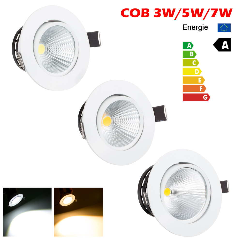 Mini LED COB Ceiling Light 3W 5W 7W Warm White Cold White Recessed LED L& Spot Light AC85 265V-in Downlights from Lights u0026 Lighting on Aliexpress.com ...  sc 1 st  AliExpress.com & Mini LED COB Ceiling Light 3W 5W 7W Warm White Cold White Recessed ...