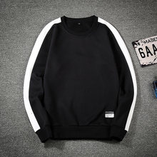 New Brand Fashion Sweatshirt Men Cotton Spring Autumn Men's Hoodies Round Collar Male Hip Hop Pullover Tracksuit Plus Size 6B9(China)