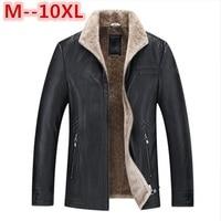 10XL 9XL 8XL7XL New Pilot Leather Jacket Brown Black Fur Genuine Leather Jacket Men Winter Natural
