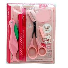 Professional Eyebrow Shaping Tools Set Eyebrow Pencil / Scissors /Thrush Artifact Card And Razor 4Pcs Eyebrow Beauty Tool Kits