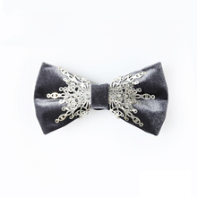 High-grade mens ties Dark grey Butterfly Bow Tie Wedding Groom Groomsman Business neck tie gifts for men Mens suits accessories