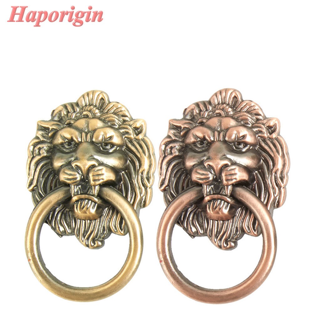 5x Antique LionHead Cabinet Drawer Knobs Vintage Furniture Wardrobe Closet Handles Cupboard Door Knobs &Handles Bars Pulls hidden door handles wardrobe cabinet drawer knobs and handle solid furniture closet doorknob bathroom pulls gold and silver