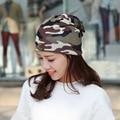 2016 Mujeres Sombrero de Camuflaje Turbante Sombrero Caliente Ocasional Elástico Hip Hop Gorro de Invierno de Las Mujeres Sombreros de Invierno Gorros # CAP6A53