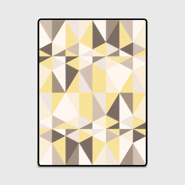yellow and gray rug for living room fendi design fashion modern scandinavian style geometric triangles door mat bedroom parlor area decorative carpet