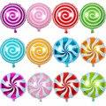 Partigos wholesale 50pcs/lot Birthday party 18inch aluminum foil balloon lollipop helium balloon