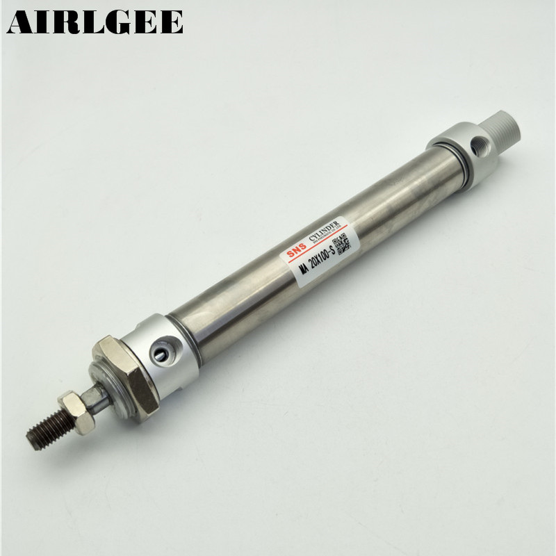 MA20x100-S Pneumatic 20mm Bore 100mm Stroke Single Rod Stainless Steel Air Cylinder With Magnectic 1.0Mpa su63 100 s airtac air cylinder pneumatic component air tools su series