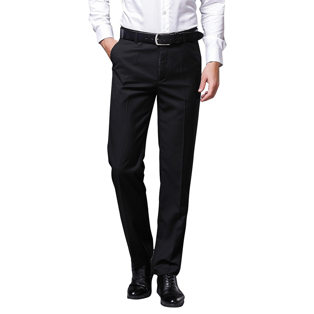 Clothing Pants Business-Suit Slim-Fit Trousers/male Formal Men's D90705 Pure-Color High-Grade