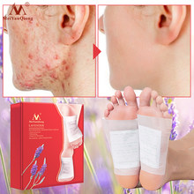 A Box Of Lavender Foot Patch Improve Sleep Quality, Remove Body Fat And Detox Foot Care Body Care Weight Loss Patch(China)