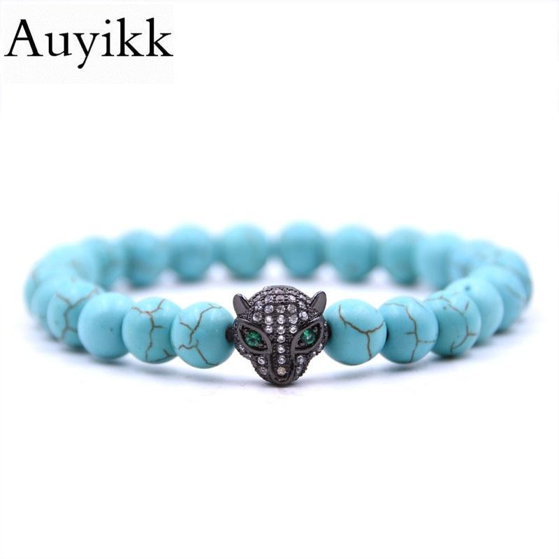 Auyikk Couple Bracelet CZ Leopard Bracelets For Women Pulseira Masculina Men Jewelry Bileklik Pulseras Christmas Gift Wristband