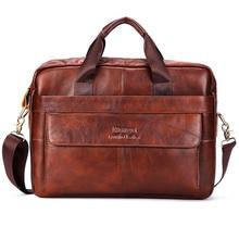 hot deal buy brand men genuine leather handbags large leather 16