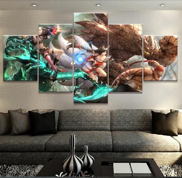Leinwand Wohnzimmer Wandkunst Rahmen Hd Gedruckt Home Decor Bilder 5