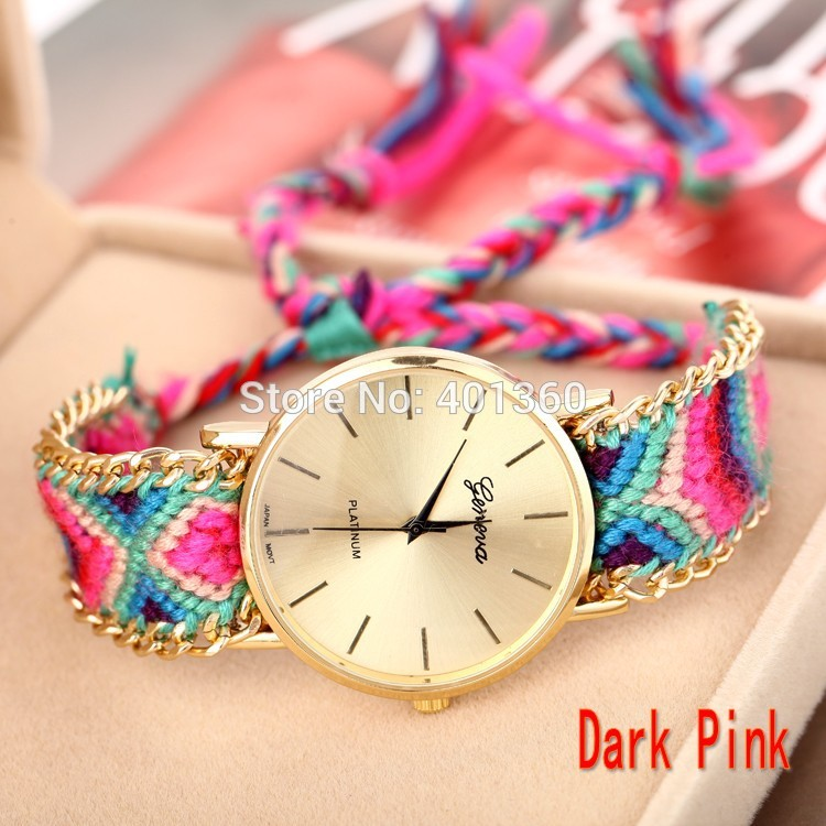 exporter colorful elephant supplier friendship bracelet watch band detail product weave manufacturer thread watches braid