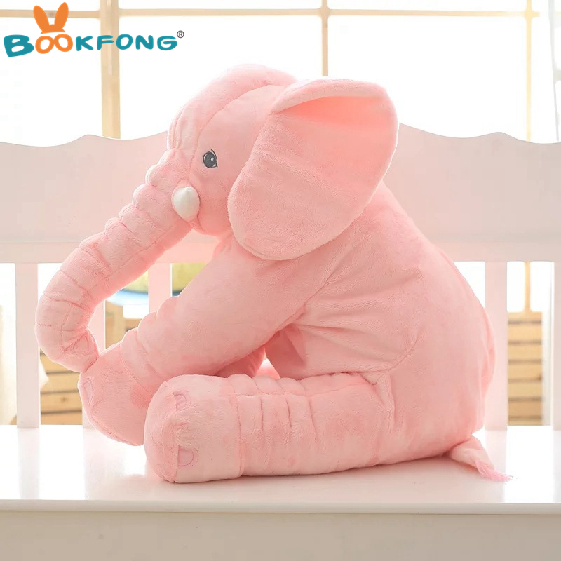 40cm/60cm Large Plush Elephant Doll Kids Sleeping Soft Back Cushion Cute Stuffed Elephant Baby Accompany Doll Xmas Gift #3