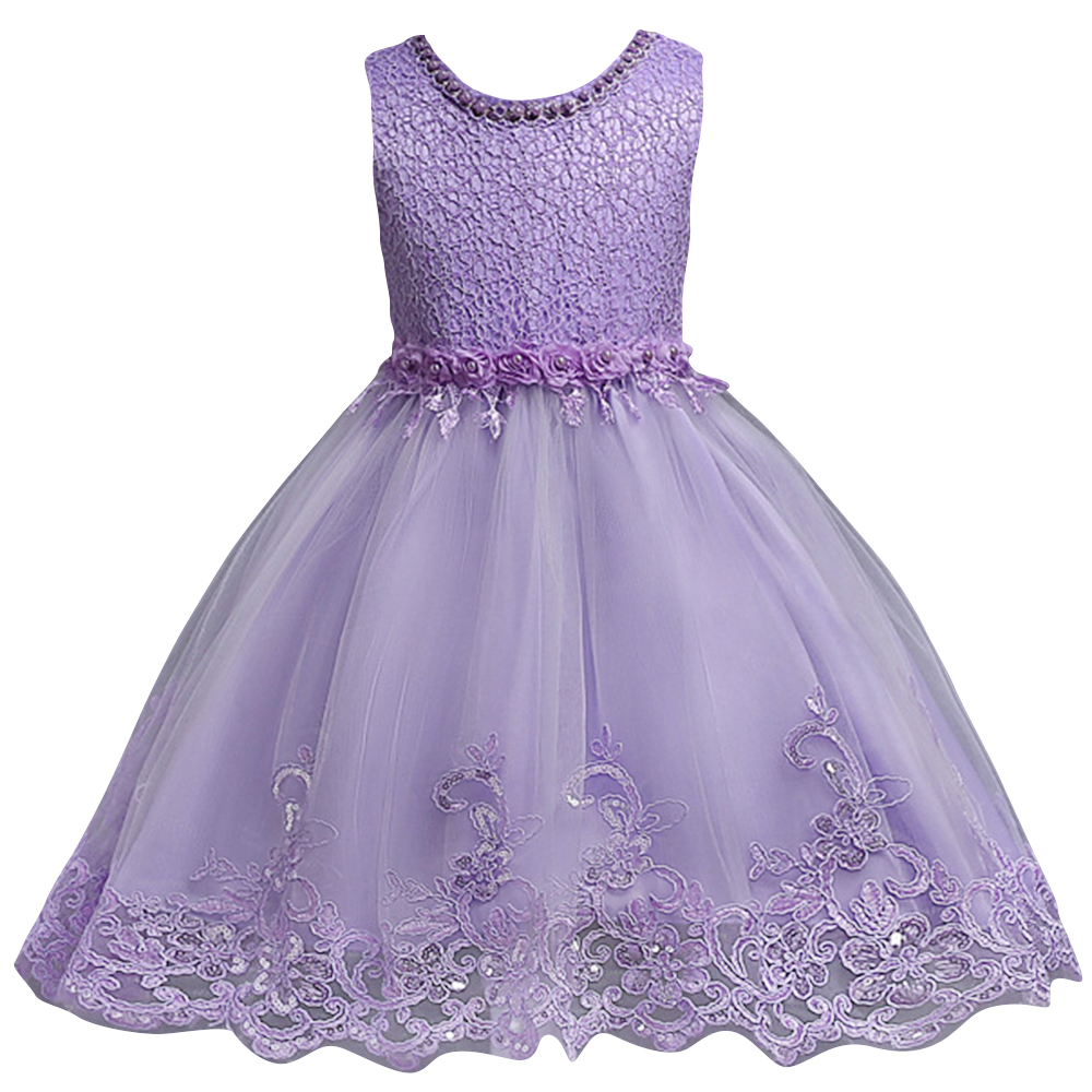 Princess Pink Pears Flower Girl Dresses 2019 Pageant Dresses for Girls First Communion Gowns Birthday Party Dress