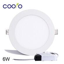 Ультра-тонкий светодиодная потолочный панель светильник круглый светодиодный вт в