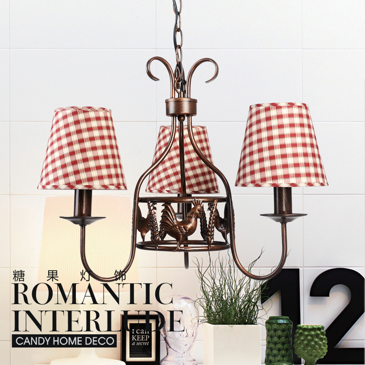 Aliexpress Buy Fabric rooster iron chandelier bedroom lamp – Rooster Chandelier