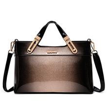 6dfda8a7fae4 2018 designer handbag high quality patent leather female tote bags handbag  women famous brands messenger bag ladies work clutch