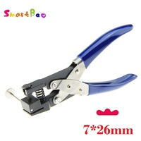 7*26mm Lotus Hole Punch for PVC Card, Protective Film, Tag, Photo, Restaurant POS Cards; Durable DIY Hand Tools